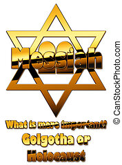 Star of David - the golden Star of David and Messiah