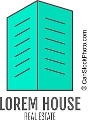 Vector house logo design, real estate icon suitable for info...