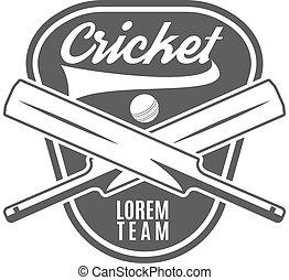 Cricket team emblem and design elements. logo . club badge....