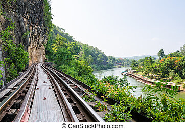 Death Railway bridge over the Kwai Noi river - Beautiful...