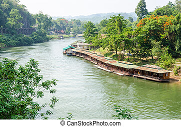 Kwai Noi river under Death Railway bridge - Beautiful...