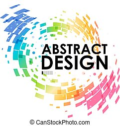 Abstract geometric colorful circular background, design...