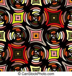 Abstract seamless pattern. Kaleidoscope seamless geometric...