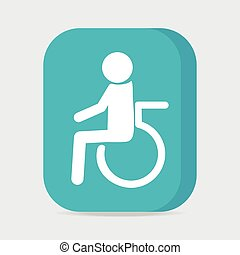 Disabled icon sign, Disabled button vector illustration
