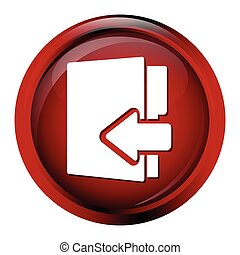 File, information button icon vector illustration