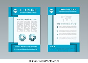 Flyer brochure design template A4 size Front and back page...