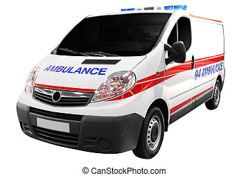 ambulance car isolated
