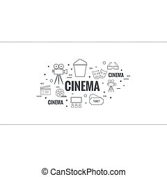 Abstract background with popcorn - Abstract background with...