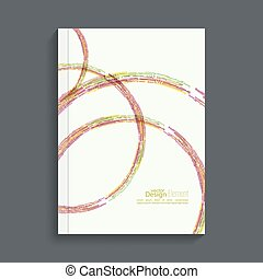 Brochure annual report - Cover for journal, magazine Leaflet...
