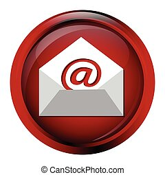 Email icon sign button