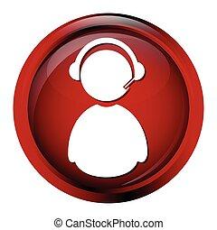 Operator, contact sign button icon