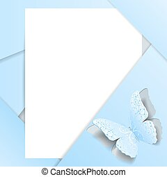 Greeting card in material design style