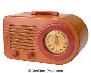 Retro Radio - Italian retro radio made of Bakelite