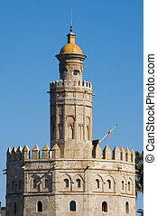 Torre del Oro, Seville - Closeup of the Torre del Oro, in...