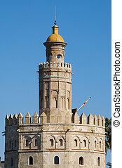 Torre del Oro, Seville - Closeup of the Torre del Oro, in...