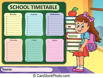 Weekly school timetable
