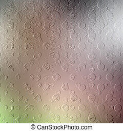Cement wall with relief pattern in the form of multi-colored balls