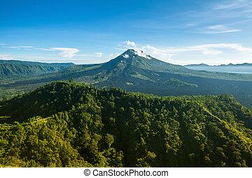 View of mount Batur (Gunung Batur) - active volcano in Bali,...