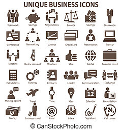 BusinessS - Set of 36 unique business icons.