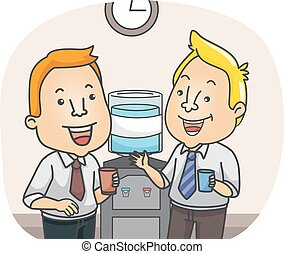 Man Office Water Cooler