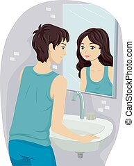 Teen Boy Sexual Orientation - Illustration of a Teenage Boy...