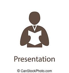 PresentIcon - Presentation, Training and Book icon...