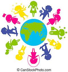 ChildrenWorld - Childrens Day concept Cute children...