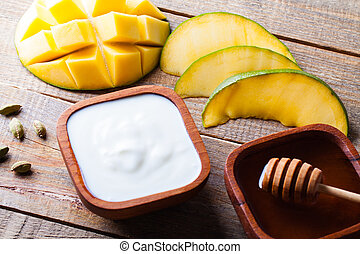 Ingredients for preparation the Indian specialty mango...