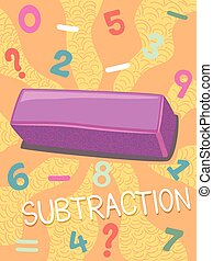 Math Subtraction Symbol Design - Illustration Featuring the...