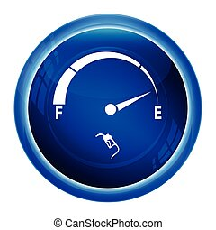 Fuel gauge icon, Gas meter icon illustration