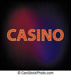Casino word icon, cartoon style - icon in cartoon style for...