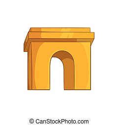 Triumphal arch, Paris icon, cartoon style - icon in cartoon...