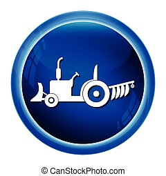 Tractor icon, Agriculture tractor icon