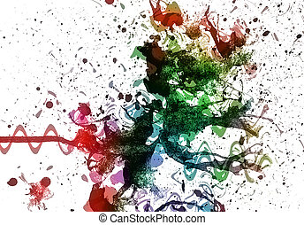 Multicolor background - abstract multi color background from...