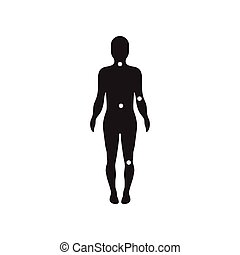 flat icon in black and white style body osteoarthritis -...