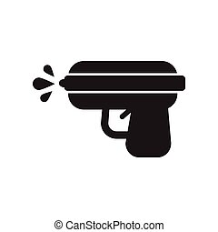 flat icon in black and white style water gun - flat icon in...