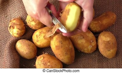 Potatoes cleaning - Potatoes and the process of cleaning