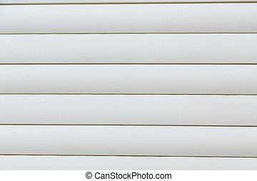 House siding, plastic panel texture. - House siding. White...