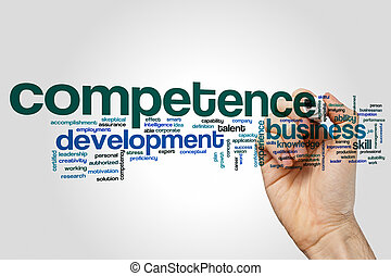 Competence word cloud concept - Competence word cloud