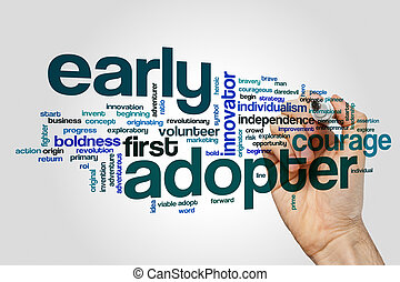Early adopter word cloud concept - Early adopter word cloud