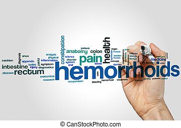 Hemorrhoids word cloud concept