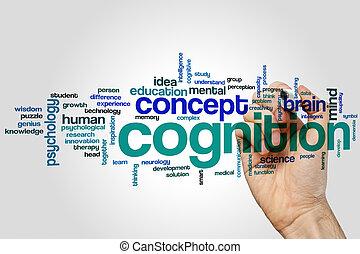 cognição, palavra, nuvem,