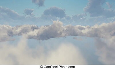 Passenger airplane in cloudy sky - Passenger airplane...