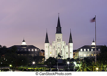 St. Louis Cathedral in New Orleans, Louisiana - Cathedral...