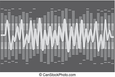 Background with sound scale. - background with sound wave.