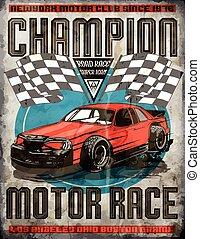 Car race poster