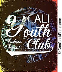 California youth club vector illustration concept in vintage...