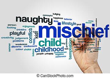 Mischief word cloud concept