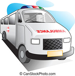 ambulance	 - Illustration of white colour ambulance