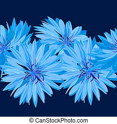 Cornflower. Blue flower. Texture, background seamless